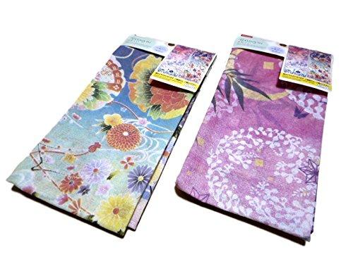 Japanese Design Gorgeous Japanese tenugui Cotton Hand Towel Set of -