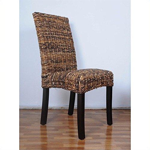 International Caravan SG-3330-1CH-IC Furniture Piece Louisa Abaca Cushioned Seat Dining Chair by International Caravan