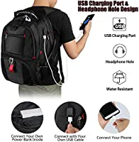 Water Resistant College School Bookbag Fits Most 17 Inch Laptop and Notebook Red Jamesay Laptop Backpacks,Extra Large Backpack with USB Charging Port,TSA Friendly Travel Computer Backpack for Men and Women