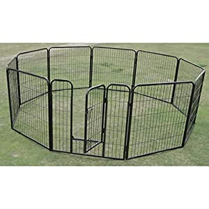 10 x 1200 Tall Panel Pet Dog Cat Exercise Play Pen Enclosure – Animal Protection Playpen Toilet Training with Secure and… Click on image for further info.