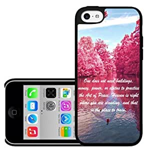 Pink Peace Quote Hard Snap On Case (iPhone 5c)