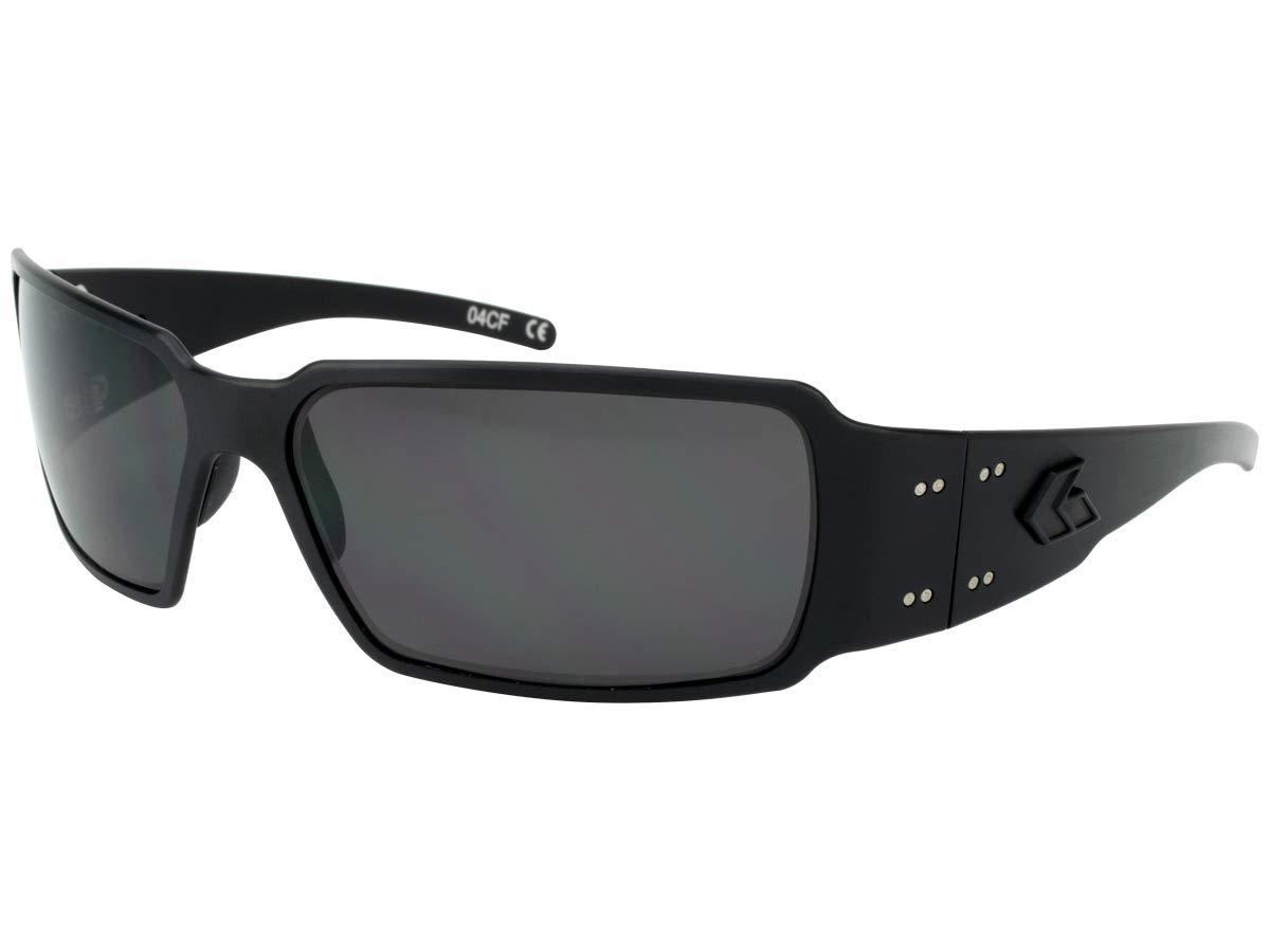 Gatorz Eyewear, Boxster Model, Aluminum Frame Sunglasses - Blackout Tactical Style/Smoked Lens