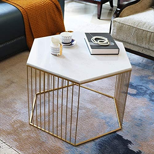 TLMY Small-sized Coffee Table, Living Room Marble Tea Small ...