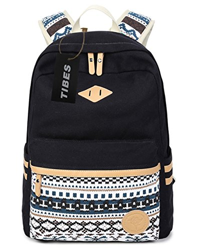 tibes-fashion-canvas-school-backpack-for-girls-black