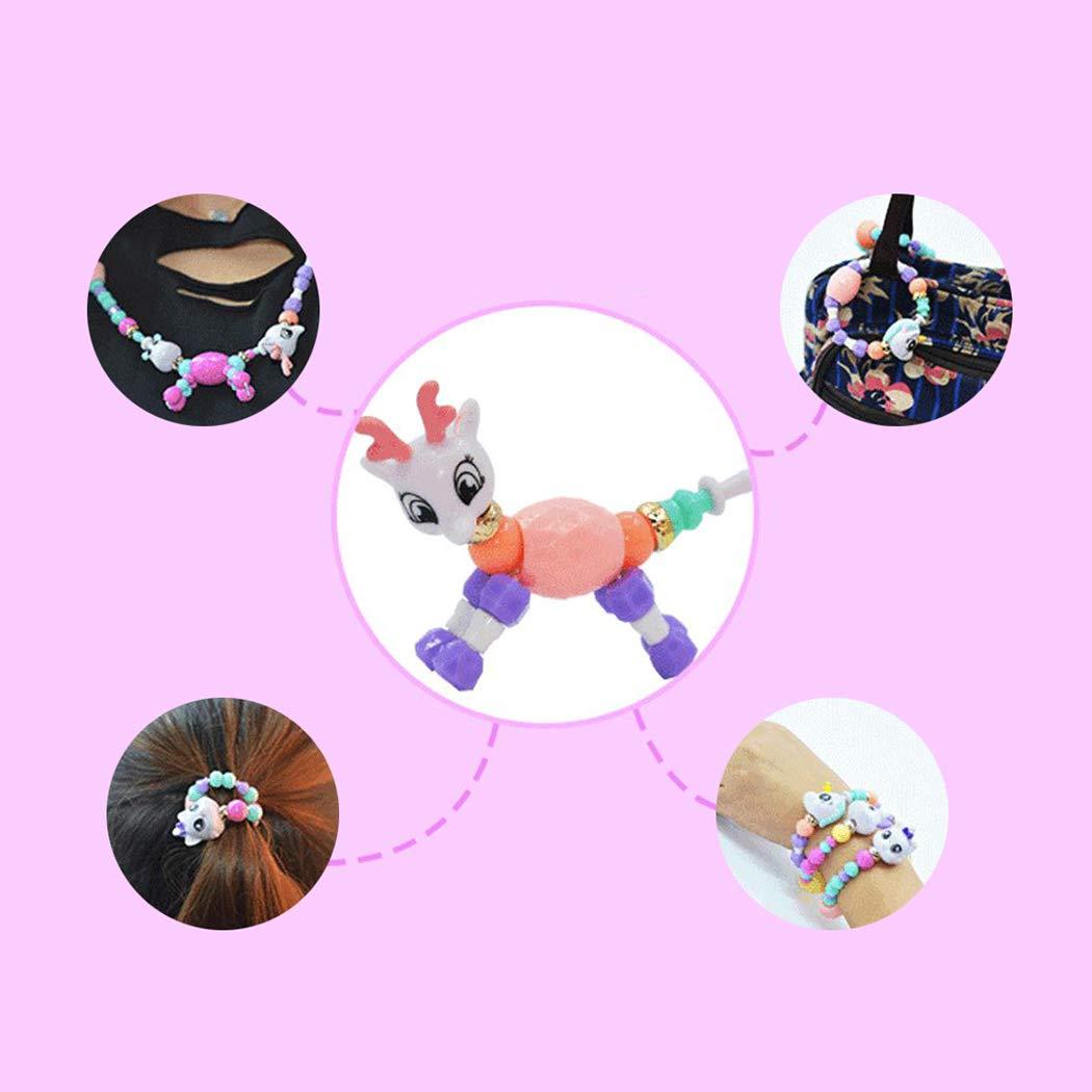 JUSTDOLIFE 7PCS Twist Bracelet Creative DIY Magic Animal Pulsera con Cuentas Pulsera para Ni/ños