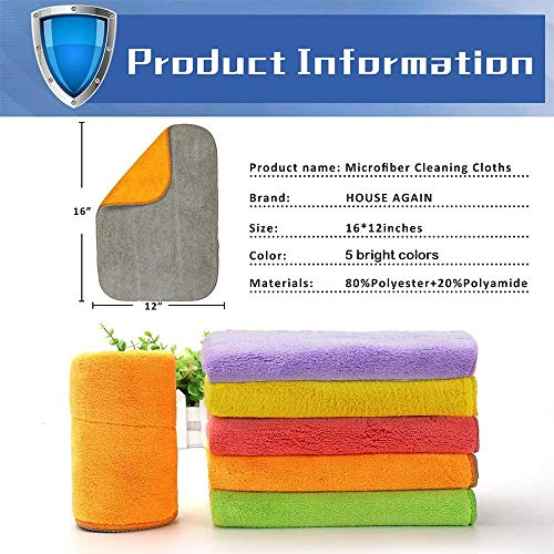 """Dust Cloths Vimi Microfiber Cleaning Cloth 12-Pack 6/""""x10/""""Dish Towel For Strong"""