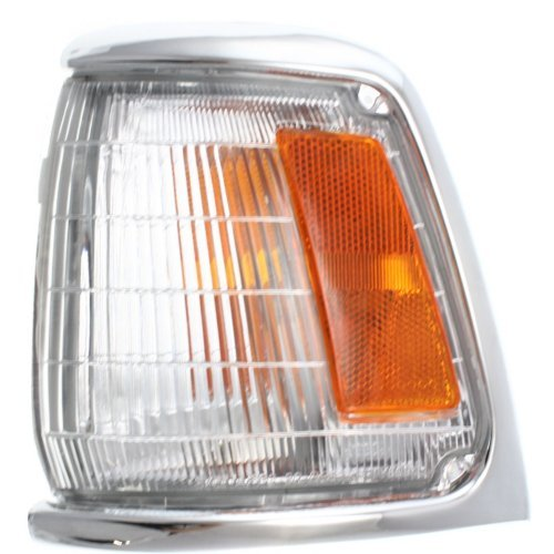 Corner Light Compatible with Toyota Pickup 1989-1991 LH Assembly with Chrome Trim 2WD