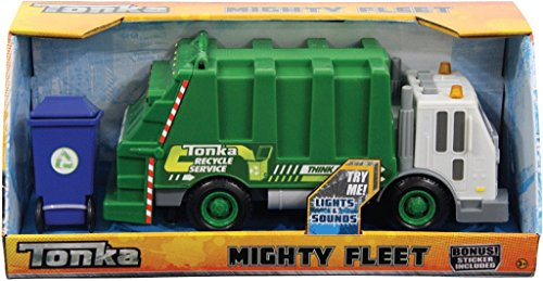 NEW! Tonka Rescue Force Garbage Truck w/Lights & Sound Green Sanitation Dept