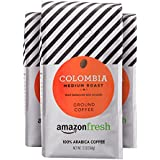 AmazonFresh Colombia, 100% Arabica Coffee, Medium Roast, Ground, 12 Ounce, Pack of 3