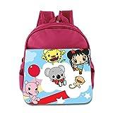 Kids Ni Hao,Kai-lan School Backpack Cute Baby Boys Girls School Bag Pink