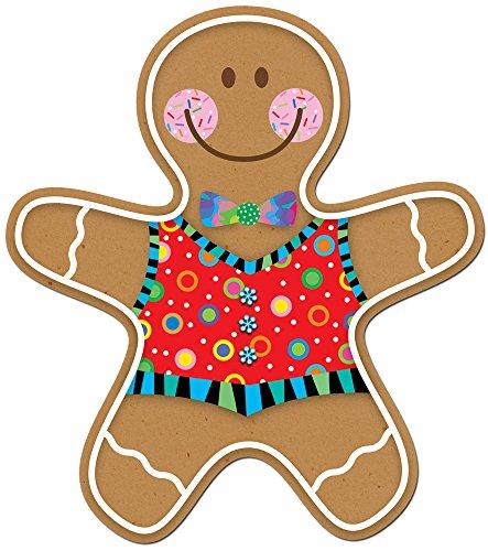 Creative Teaching Press 6-Inch Designer Cut-Outs, Gingerbread Man (5889)