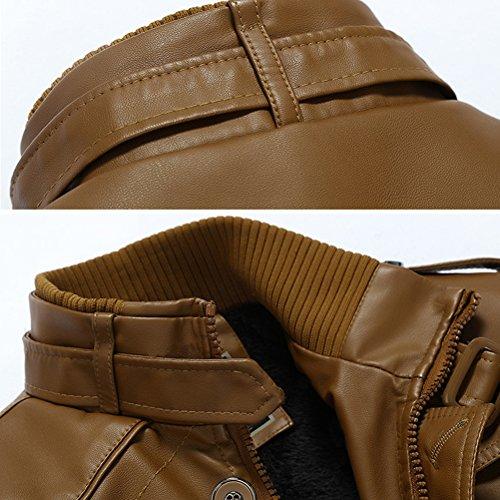 Trench Con Xs Pelle Collo Giacca In Uomo Signori Attillata Impeamibile Cappotto Giallo Alto Basic Ecopelle Robo m Ragazzi Biker wHfq7WX