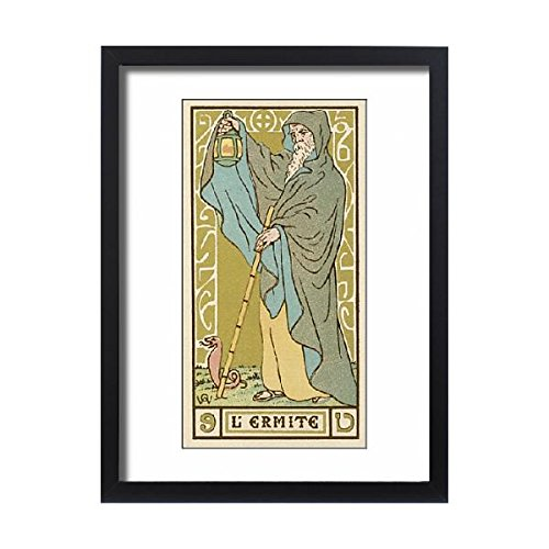 Framed 24x18 Print of Tarot Card 9 - L Ermite (The Hermit) (573004) by Prints Prints Prints