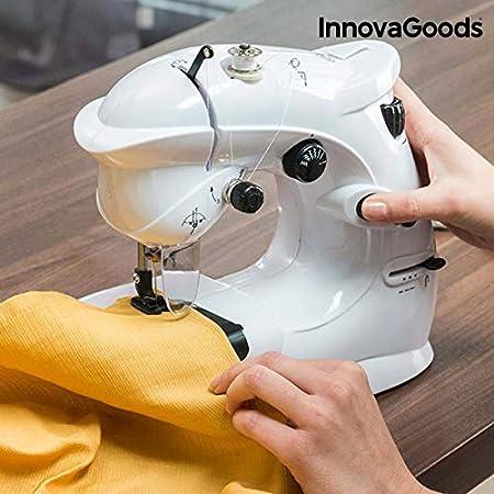 Opinión sobre InnovaGoods Máquina de Coser Compacta 6 V 1000 mA, Vinilo y ABS, Blanco, 23x26x12 cm