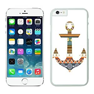 Soft TPU Iphone 6 White Case 4.7 Inches Colorful Anchor Aztec Durable Silicone Slim Phone Back Cover