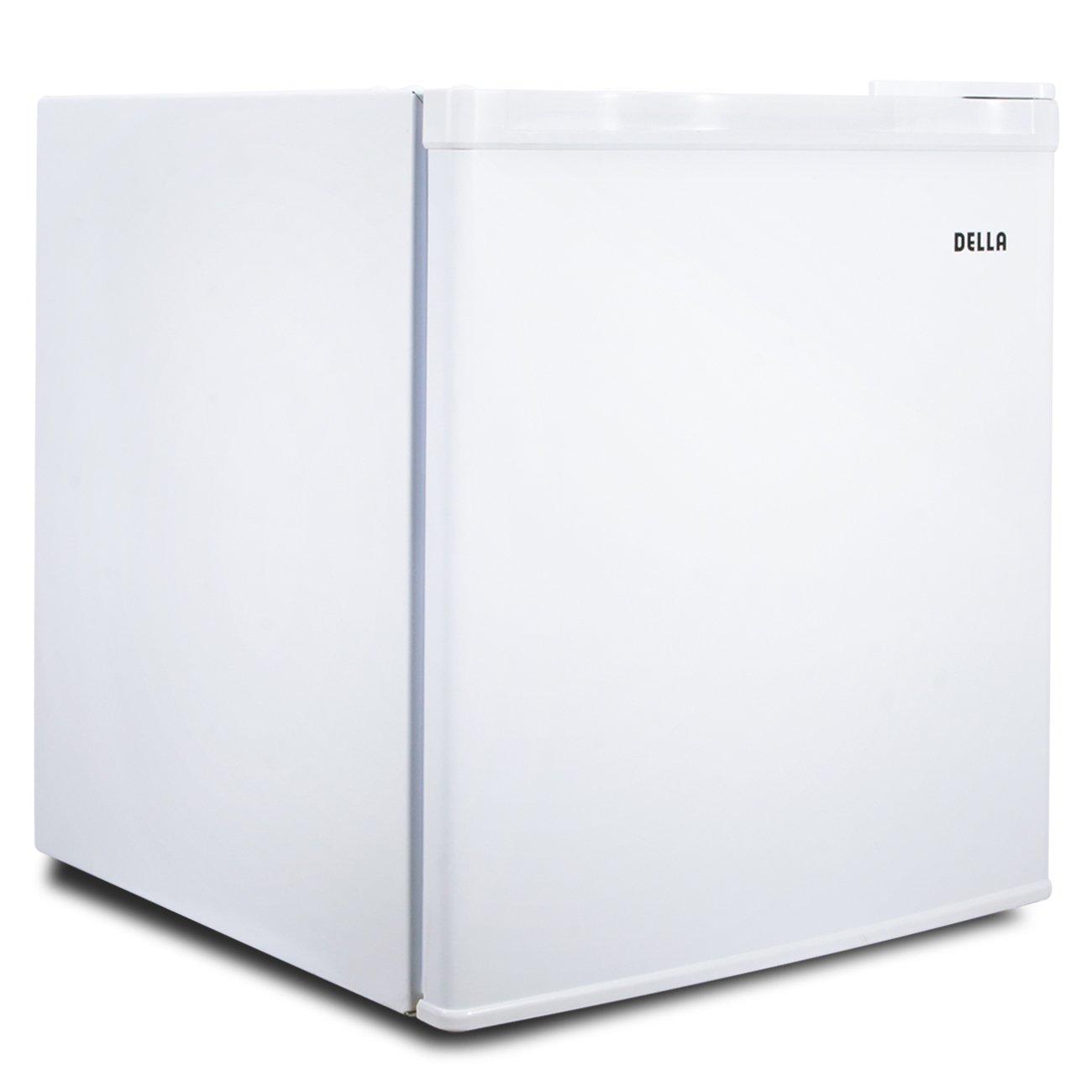 Della 1.1 cu ft Upright Compact Freezer, Reversible Door, Freestanding, White