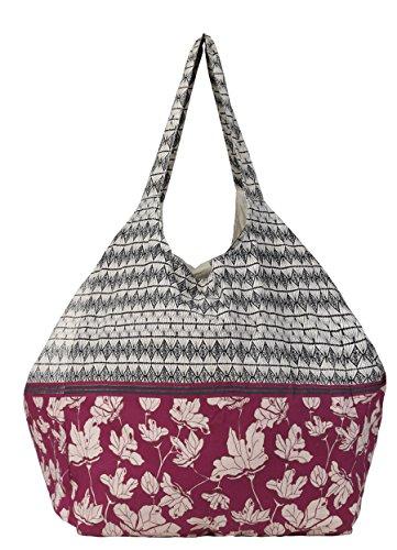 Becksöndergaard Tasche 1701616004 Jeanne XXL-Shopper aus Baumwolle in 340 Beet Red