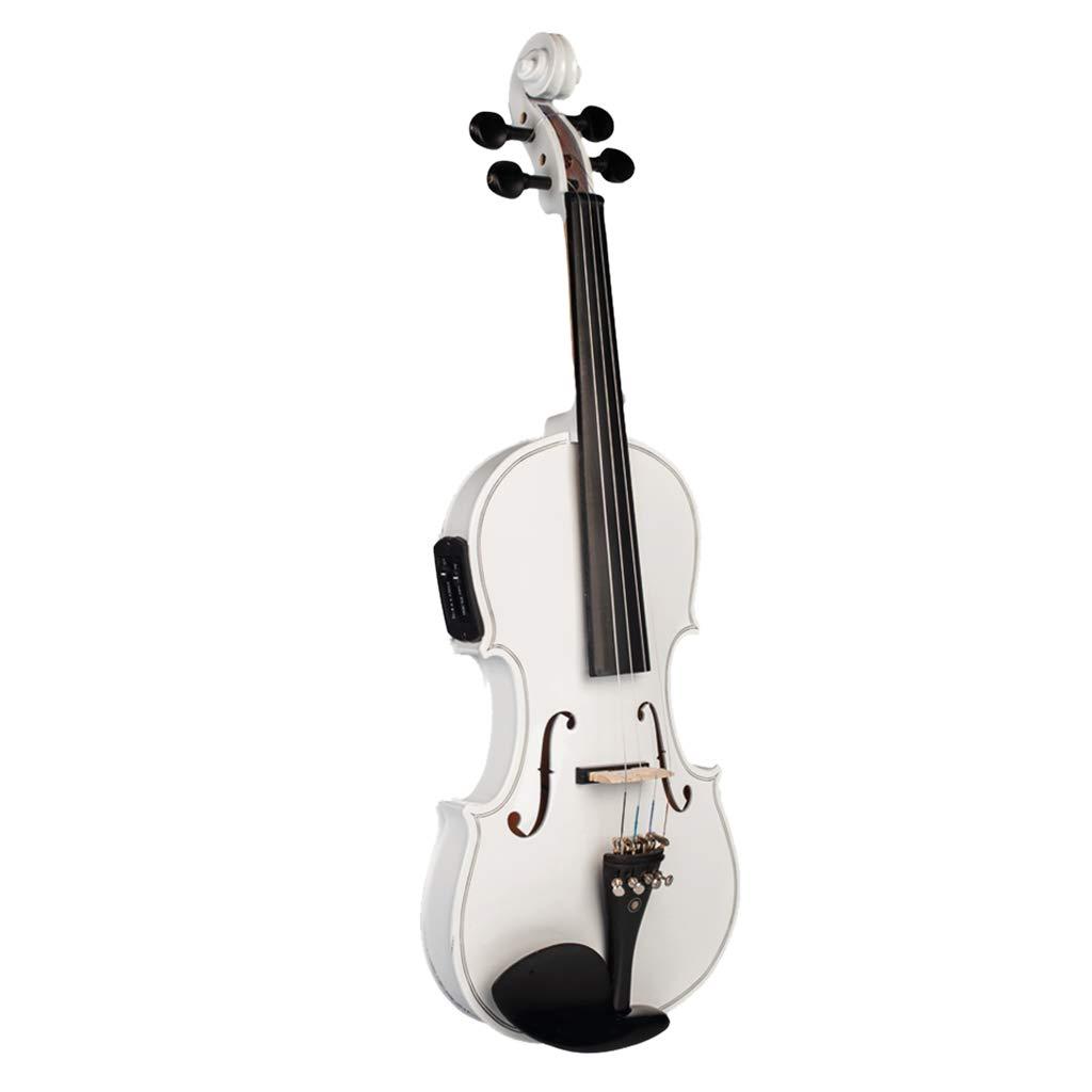 kesoto Full Size 4/4 Electric Violin Set, White