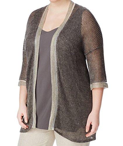 - Marina Rinaldi Women's Uva 2-Piece Knit Cardigan Large Grey
