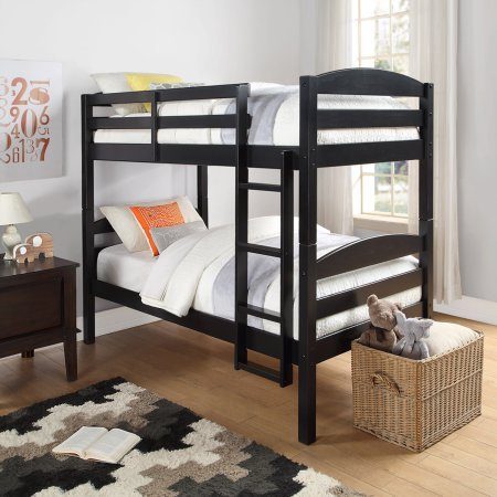 Mainstays twin over twin wood bunk bed multiple finishes Black bunk beds
