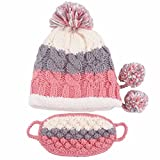 Thick Knitted Beanies Winter Warm Ear Hat Ski Cap Ski Hat Earmuffs with Mask