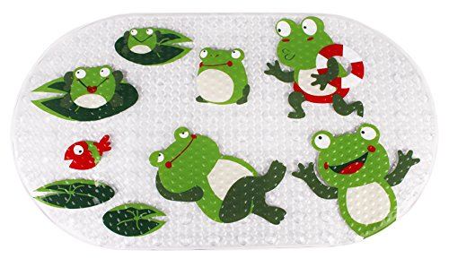 Yimobra Bath tub and Shower Mat for Baby Pattern Machine Washable,Anti Bacterial,HIghest Quality Materials (Baby 27x15 Inch, - Frog Shower Baby