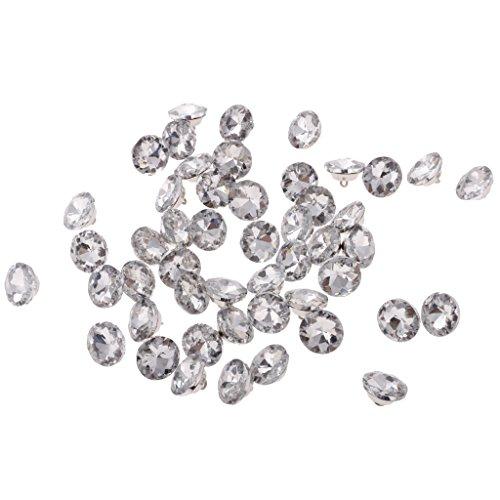 Homyl 50pcs Botones De Cristal Para La Tapicería De Cabecera De Cabecera Artesanía Decoración 20 Mm