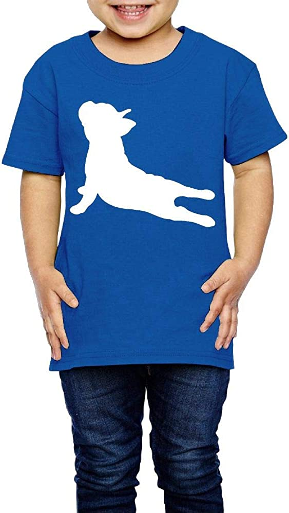 XYMYFC-E French Bulldog Yoga 2-6 Years Old Kids Short Sleeve T Shirt