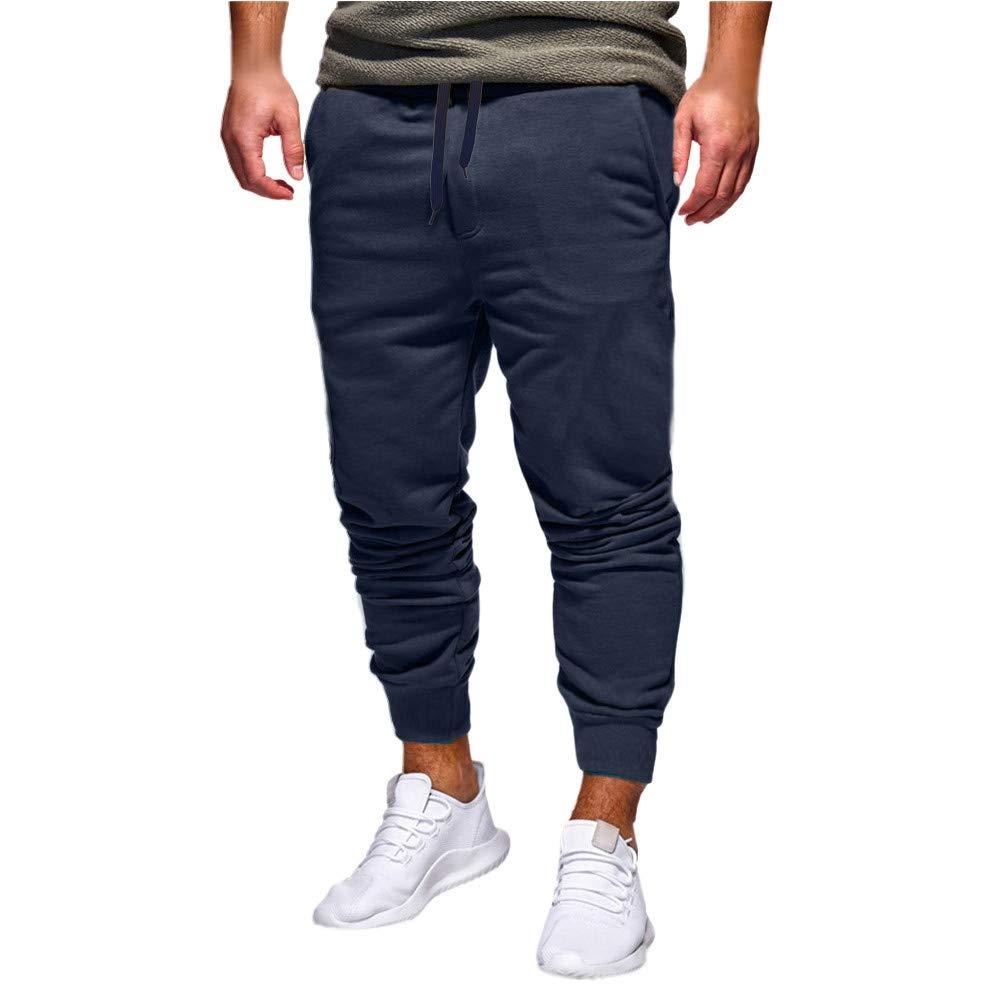 LEERYAAY Cargo/&Chinos Mens Autumn Winter Flannel Thickening Straight Tube Loose Fashion Pants