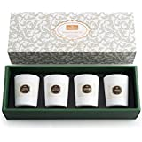 Anjou Scented Candle 4 Pack Gift Set, Includes Pear and Freesia, BlackBerry and Bay, Orange and Peppermint, 20 Hours Burn Time Per Cup, 4 x 70 g for Stress Relief