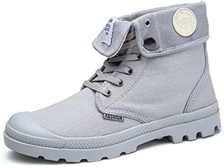 JACKSHIBO Men's Fasion Canvas High Top Sneaker Boots Shoes