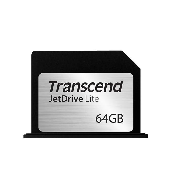 Transcend JetDrive Lite 360 - Tarjeta de expansión de Almacenamiento de 64 GB, Negro y Plata