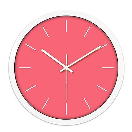 Toque minimalista Multicolor Reloj de pared monocromáticos Esfera y Digital creativos manecillas Silencio, de 10