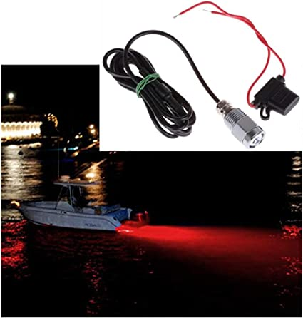 Nslumo Wasserdicht 12 V 24 V 9 W Boot Drain Plug Light 6 Led Licht Unterwasser Boot Lampe Npt Gewinde Brunnen Pool Teich Lampen Rot Amazon De Sport Freizeit