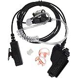 FANVERIM 3 2-Wire Coil Earbud Audio Mic Surveillance Kit Compatible For Motorola Two-Way Radio XTS5000 HT1000