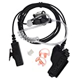 FANVERIM 3' 2-Wire Coil Earbud Audio Mic Surveillance Kit Compatible For Motorola Two-Way Radio XTS5000 HT1000