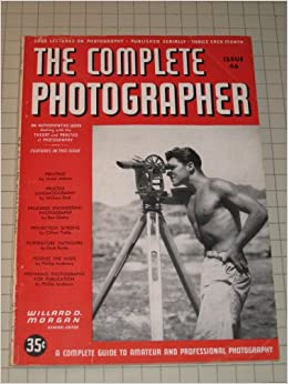 1942 the complete photographer magazine posing the nude ansel adams on printing