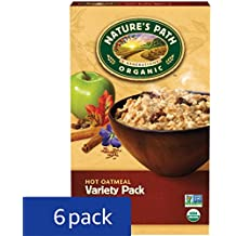 Nature's Path Organic Instant Hot Oatmeal, Variety Pack, 14 Ounce (Pack of 6)