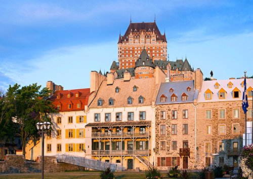 Posterazzi Poster Print Collection Facade of Chateau Frontenac in Lower Town City Quebec Canada Panoramic Images, (24 x 18), Multicolored ()