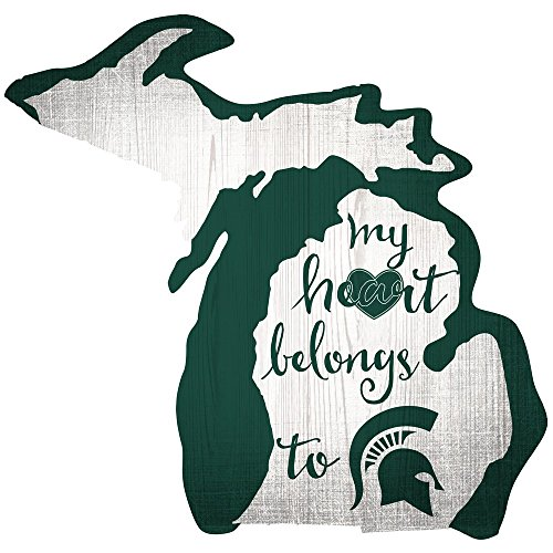 (Fan Creations Sign Michigan Heart Belongs State,)