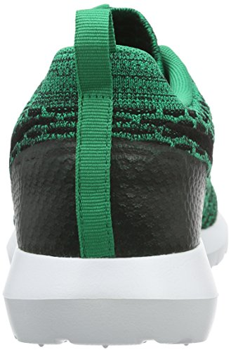 Nike Men's Roshe Nm Flyknit Se Running Shoes, Black Green / Black / White (Lucid Green / Black-white)