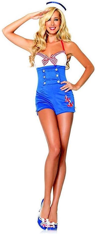 mememall Fashion Sexy Alta Mar miel Pin Up Sailor DISFRAZ de ...