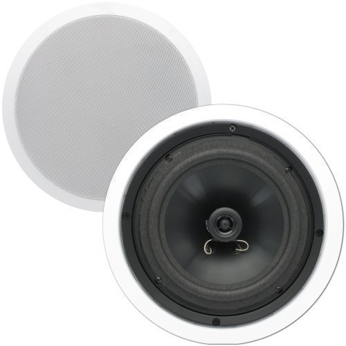 Theater Solutions CS8C 8 -Inch In Ceiling Speakers, White