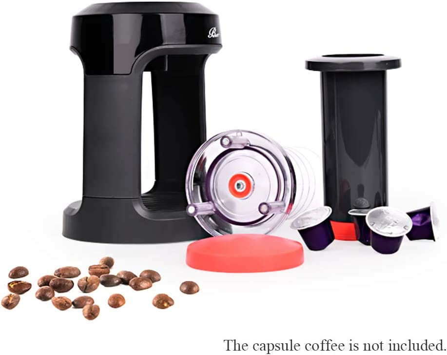 Weehey Manual Coffee Brewer Single Serve Manual Hand Press Coffee Maker Red