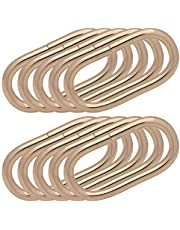 BIKICOCO 1-1/2'' Metal Oval Ring Buckle Loops Non Welded for Leather Purse Bags Handbag Straps, Light Gold - Pack of 10