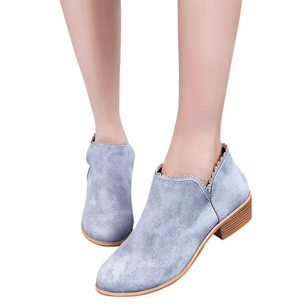 Chaussures Bottes Femmes Sonnena, Bottes Cuir Zipper Bottes de Neige Bottines Femme Mode Automne Hiver Fé Minine Haut Talon Lacent Bottines Dames Chaussures Classiques Chaudes Impermeable