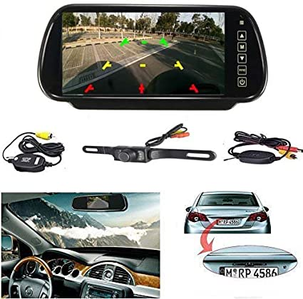 7inch TFT LCD Display HD Mirror Monitor For Car Reverse Rear View Backup Camera