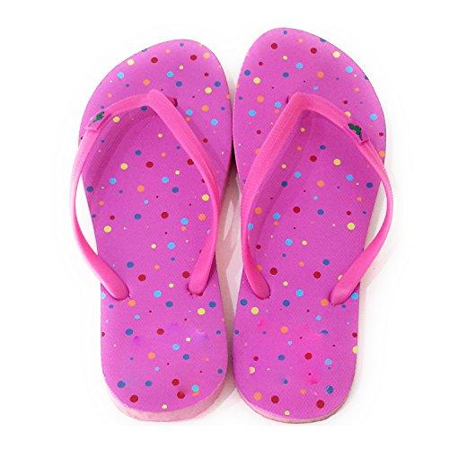 Varios Playa Rosa Piscina Colores Correa Modelos Suela Chanclas y de Mujer de Verano Puntos qXBtnx6R1w