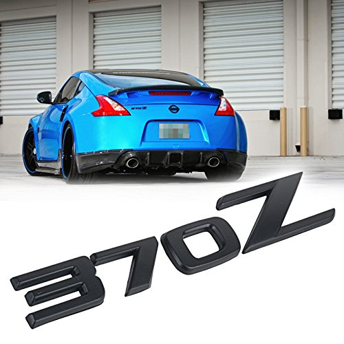 Jdm Nissan Emblem - JDM Matte Black 370Z Badge Emblem Rear Trunk Letter Sticker for 2009-up Nissan 370Z Z34