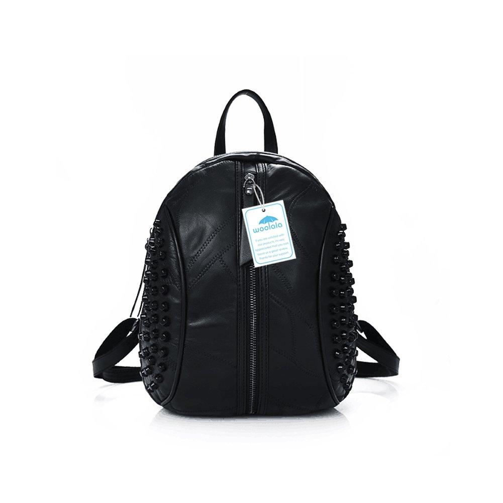 483dc6128f8 Large Black Studded Backpack